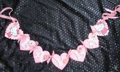 """Hello Kitty Banner but use with """"Bride and Groom"""" for front of sweetheart table. Hello Kitty Wedding, Kitty Party, Sweetheart Table, 1 Year, Crochet Necklace, Groom, Banner, Crafty, Bride"""