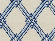 Brunschwig & Fils BAMBOO TRELLIS BLUE 8012123.5 - Brunschwig & Fils - Bethpage, NY, 8012123.5,Brunschwig & Fils,Embroidery,Blue,Up The Bolt,8012123,Lattice/ScrollWork,Upholstery,India,Yes,Brunschwig & Fils,Le Jardin Chinois,BAMBOO TRELLIS BLUE