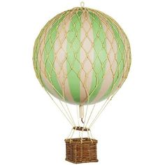 Authentic Models Floating the Skies Hot Air Balloon Replica, Color: True Green Authentic Models http://www.amazon.com/dp/B008FR5YWE/ref=cm_sw_r_pi_dp_u24Jtb0BWJAZ08BZ