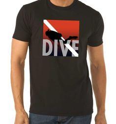 Short Sleeve DIVE Scuba Diving T-Shirt  (men & women's styles) $28