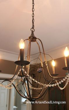 Interior Halloween Decorating Ideas -  Web of light www.ArtandSoulLiving.com