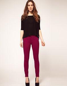 Warehouse Purple Skinny Jean- winning.