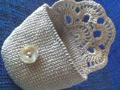 Crocheted cosmetic bag - free diagram and tutorial (port)