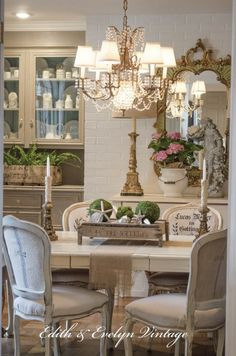 15 ways to DIY your dream dining room table (for half the price!) - 15 ways to DIY your dream dining room table (for half the price!) Gorgeous French Country Dining Room and accessories French Country Dining Room, French Country Kitchens, French Country Bedrooms, French Country Farmhouse, French Country Furniture, French Country Style, French Country Decorating, French Cottage, French Chic