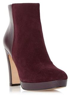 Womens berry ankle boots from Dune - £129 at ClothingByColour.com