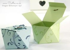 Faceted Gift Box Tutorial using Stampin' Up! Everything Eleanor Stampin' Up! UK Demonstrator Pootles – Faceted Gift Box Tutorial using Everything Eleanor Oooo, don't you just love a box that looks reeeeeaaaallllly complicated. Gift Boxes Uk, Gift Bags, Stampin Up Anleitung, Boxes And Bows, Craft Box, Craft Ideas, Card Tutorials, Diy Box, Box Packaging