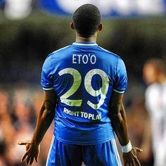 Eto'o - First Chelsea Goal Blue Bloods, Chelsea Fc, Trx, Fc Barcelona, Football Players, Messi, Goal, My Life, Soccer