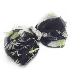 Meilliwish Noble Silk Bow Women Girls Hair Clip(C10)(Black) ** Click image for more details.