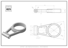 3D CAD EXERCISES 825 - STUDYCADCAM Mechanical Engineering Design, Mechanical Design, Autocad, 3d Drawings, Drawing Practice, Designs To Draw, Planer, Social Media, 3d Modeling