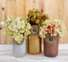 Simple and easy Rustic Glam Mason Jars.