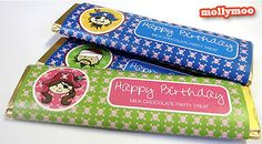 Free birthday party chocolate bar wrappers template - pirate girl and pirate boy