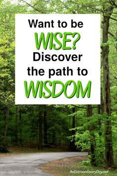 Want to be WISE Discover the path to WISDOM. Wisdom is essential for a successful life. Discovering the source of wisdom will give us wisdom for every situation. - AnExtraordinaryDay.net #faith #wisdom #lifestyle #bibleverse