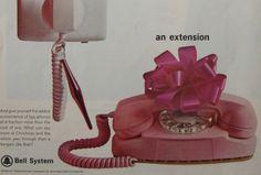 Vintage Bell telephone ad - pink princess telephone