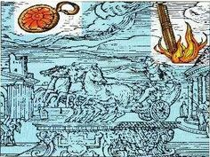 "This is a renaissance illustration of a UFO sighting in Rome detailed in a book ""Prodigiorum liber"" by Roman historian Julio Obsequens - ""Something like a sort of weapon, or missile, rose with a great noise from the earth and soared into the sky""."