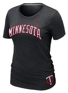 Minnesota Twins Women's Nike Heather Black Seasonal T-Shirt
