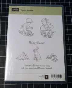 Rubber Stamp Set Retired Stampin UP Heaven Blessed Easter by PaperCraftLady on Etsy