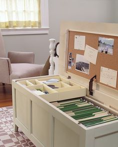 Great idea for office storage.