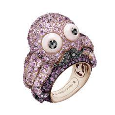 182d8893969 Pink gold – White diamonds – Black diamonds – Pink sapphires Smykker  Samling, Vogue Paris