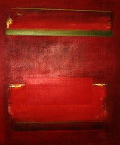 """Mason Wells, """"Red Rectangle and Verticals"""" (1965) 