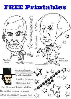 printable president george washington coloring page and biography