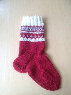 Kerstsok  breien knitting fair-isle 2015 november