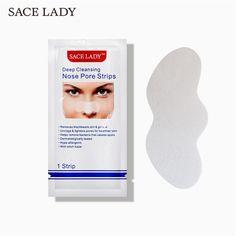 SACE LADY Blackhead Remover Deep Nose Pore Cleasing Strip Nose Sticker Pig Nose Mask Charcoal Pore Strip Deep Clean - Kenzi- Shop more, live better Black Head Strips, Nose Pore Strips, Nose Mask, Face Masks, Nose Cleaner, Polyvinyl Alcohol, Nose Pores, Tighten Pores, Facial