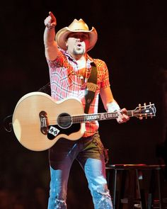 """""""Who's coming with me?"""" Current GRAMMY nominee Jason Aldean gets the night train rolling during a performance on Jan. 9 in Bossier City, La."""