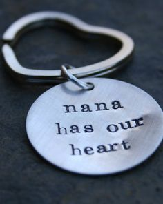 Father's Day gift idea: personalized heart shaped key ring