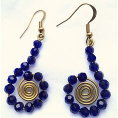 Online Shopping for UNIQUE BLUE EARRINGS   Earrings   Unique Indian Products by Serendipity - MSERE98309786070