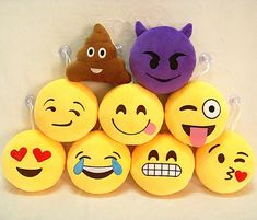 40 Styles Soft Emoji Smiley Cushions Pillows Cartoon Facial Qq Emotions Pillow Yellow Round Cushion Stuffed Plush Toy Gift For Baby Kids Wicker Seat Cushions Outdoor Wicker Cushions From Wondercraftroom, $6.75| Dhgate.Com