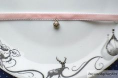 Velvet choker collar pink choker kawaii choker nymphet