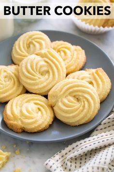 Butter Cookies - Cooking Classy - Butter Cookies – Cooking Classy Best Picture For easter Cookies For Your Taste You are looking - Easter dessert Basic Butter Cookies Recipe, Danish Butter Cookies, Easy Cookie Recipes, Cookie Desserts, Yummy Cookies, Sweet Recipes, Baking Recipes, Dessert Recipes, Butter Sugar Cookies