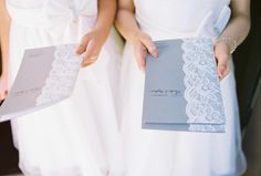 Vancouver Wedding Planner, Alicia Keats Weddings + Events, Photo by Ophelia Photography. #Lace #wedding #ceremony #program