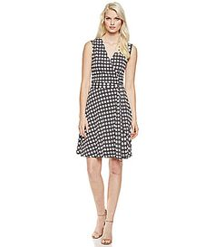 Vince Camuto Swinging Dots Wrap Dress #Dillards