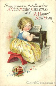 Vintage - I'm framing this and displaying it with my antique toy piano that looks just like the illustration!