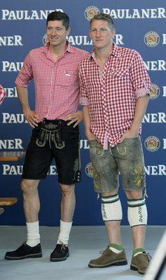 Bastian Schweinsteiger, Robert Lewandowski, bayern münchen, bayern munich, photoshoot