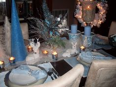 My christmas table scape last year..