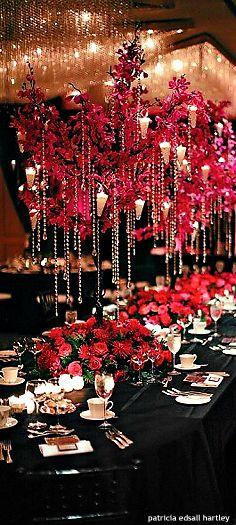 Luxury wedding centerpiece idea