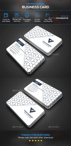 #Business #Card - Business Cards Print Templates Download here: https://graphicriver.net/item/business-card/20335058?ref=alena994