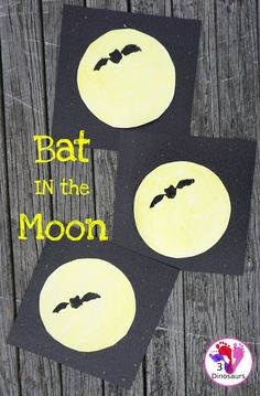Bat in the Moon A Fun Halloween Painting Halloween Art Projects, Halloween Science, Halloween Moon, Halloween Painting, Halloween Crafts For Kids, Halloween Activities, Fun Crafts For Kids, Projects For Kids, Art For Kids