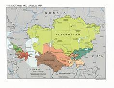 mapa da ásia central - Pesquisa Google
