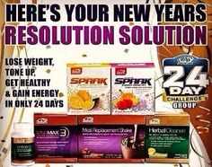 If your New Years resolution includes health, fitness or finances you must try the AdvoCare 24 Day Challenge! www.advocare.com/130531841
