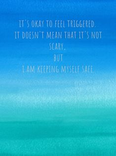 """Sometimes we're told, """"You're overreacting"""" or """"You shouldn't feel scared."""" It's scary to feel triggered. You are doing what you can to keep yourself safe. What if you could be BE OKAY WITH YOUR FEELINGS & BE KIND TO YOURSELF? Email me because I've got some offers. MargaretCWang@ThriveAndFeel.com #trauma #PTSD #triggers #feelingsquotes #feelingsandemotions #lawofattraction #selflove #loveyourself"""