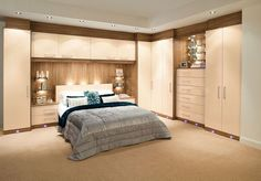 For space saving bedroom design modern fitted furniture for storage - Fitted bedroom wardrobe ideas Fitted Bedroom Furniture, Fitted Bedrooms, Corner Furniture, Furniture Ideas, Furniture Nyc, Furniture Outlet, Wardrobe Furniture, Tiny Bedrooms, Wardrobe Cabinets
