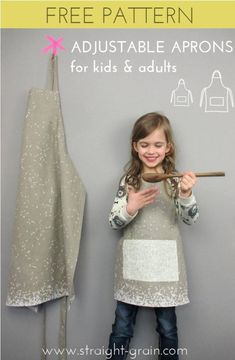 Big chef & Little chef aprons: Free pattern + $100 GIVE-AWAY | StraightGrain