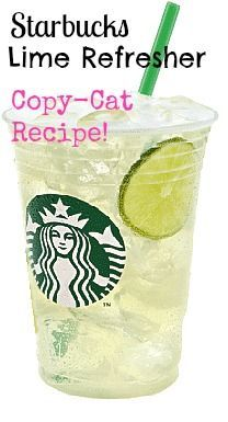 Starbucks DIY Refresher copycat recipe, cool lime refresher is perfect for the hot summer days! Your guest will love this for your outdoor cookout beverage. Cool down and chill with this easy and budget friendly beverage. Starbucks Frappuccino, Starbucks Diy, Healthy Starbucks Drinks, Starbucks Refreshers, Healthy Drinks, Lime Recipes, Copycat Recipes, Cucumber Recipes, Refreshing Drinks