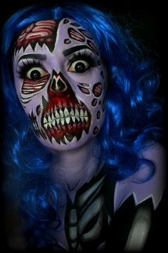 Last throwthrowback before Halloween. I wasn't able to get enough done to post a look each day but I'm pretty happy with the looks I have… Zombie Halloween Makeup, Halloween Eyes, Halloween Cartoons, Zombie Makeup, Scary Makeup, Clown Makeup, Fx Makeup, Makeup Ideas, Halloween Contacts