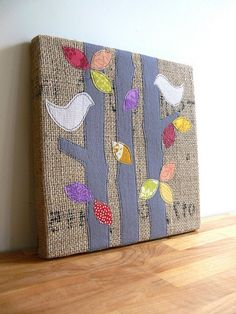 burlap art by Jenny Bartoy | Flickr - Photo Sharing!
