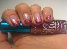 Nail Art #01 - Purple Icicles ( Unghie Stalattiti Porpora Glitter ) Unghie Stalattiti di colore Porpora Glitter Fai Da Te :)