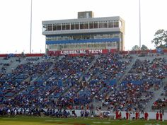 Louisiana Tech stadium  Ready for Football Season to start!!!